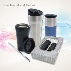 Flasks, Stainless Mugs & Bottles